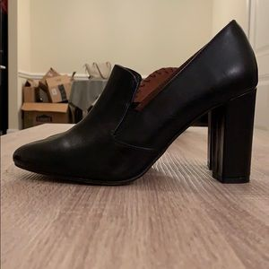 H&M heeled loafers